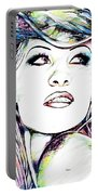 Pamela  Anderson Portrait Portable Battery Charger