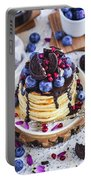 Pancakes With Chocolate Sauce Portable Battery Charger