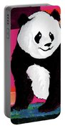 Panda Abstrack Color Vision  Portable Battery Charger