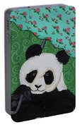 Panda In The Rain Portable Battery Charger