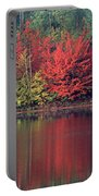 Panorama Fall Color Moccasin Lake Upper Peninsula Mi Portable Battery Charger