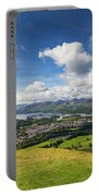 Panorama Of Keswick And Lake Derwent Water Panorama From Latrigg Portable Battery Charger