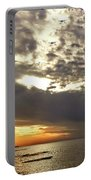 Panorama Of The Sunset In Caesarea Portable Battery Charger