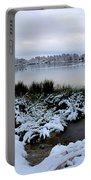 Panorama Of Winter Lake Portable Battery Charger