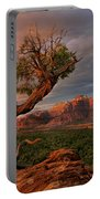 Panorama Storm Back Of Zion Near Hurricane Utah Portable Battery Charger