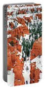 Panorama Winter Storm Blankets Thors Hammer Bryce Canyon Utah Portable Battery Charger