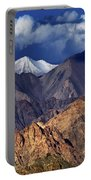 Panoramic Rocky Landscape Of Leh City Ladakh Jammu And Kashmir India Portable Battery Charger