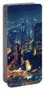 Panoramic View Of Dubai City Portable Battery Charger