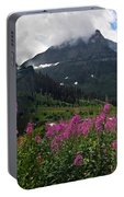 Panoramic View Of 'going To Sun Road' Portable Battery Charger