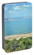 Panoramic View Of The Sea Of Galilee Portable Battery Charger