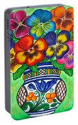 Pansy Parade Portable Battery Charger