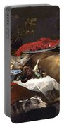 Pantry Scene With Servant By Frans Snyders Portable Battery Charger