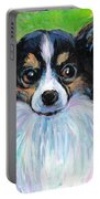 Papillon Dog Painting Portable Battery Charger