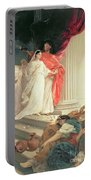 Parable Of The Wise And Foolish Virgins Portable Battery Charger by Baron Ernest Friedrich von Liphart