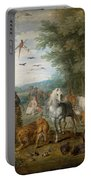 Paradise Landscape With Animals Portable Battery Charger