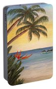 Paradise With Dolphins Portable Battery Charger