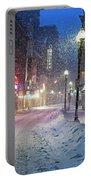 Paramount Snowstorm Boston Ma Washington Street Portable Battery Charger