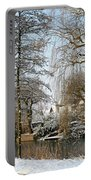Walk In A Snowy Park Portable Battery Charger