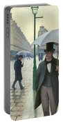 Paris A Rainy Day - Gustave Caillebotte Portable Battery Charger
