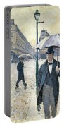 Paris A Rainy Day Portable Battery Charger by Gustave Caillebotte