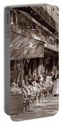 Paris Cafe 1935 Sepia Portable Battery Charger