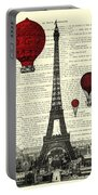 Paris, City Of Love Portable Battery Charger