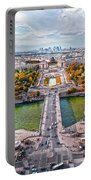 Paris City View 19 Art Portable Battery Charger