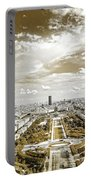 Paris City View 20 Sepia Portable Battery Charger