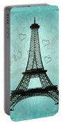Paris Collage Portable Battery Charger