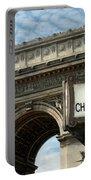Paris France. Larc De Triomphe On Place Charles De Gaulle Portable Battery Charger