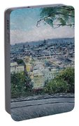 Paris From The Sacre Coeur Montmartre France 2016 Portable Battery Charger
