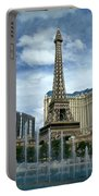 Paris Hotel And Bellagio Fountains Portable Battery Charger