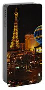 Paris In Las Vegas-nevada Portable Battery Charger