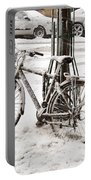Paris In Snow Portable Battery Charger