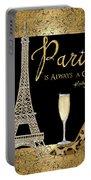 Paris Is Always A Good Idea - Audrey Hepburn Portable Battery Charger