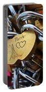 Paris Love Locks Paris France Color Portable Battery Charger