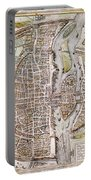 Paris Map, 1581 Portable Battery Charger