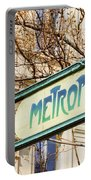 Paris Metro Sign Color Portable Battery Charger