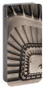 Paris Staircase - Sepia Portable Battery Charger