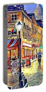 Paris Street Abstract 2 Portable Battery Charger