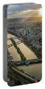 Paris Sunrays Dusk Along The Seine Portable Battery Charger