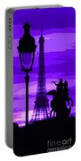 Paris Tour Eiffel Violet Portable Battery Charger
