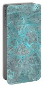 Paris Traffic Abstract Blue Map Portable Battery Charger