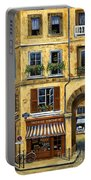 Parisian Bistro And Butcher Shop Portable Battery Charger by Marilyn Dunlap