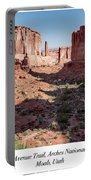 Park Avenue Trail, Arches National Park, Moab, Utah Portable Battery Charger