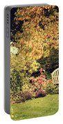 Park Bench, Fall Portable Battery Charger