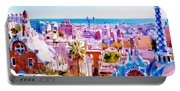 Park Guell Watercolor Painting Portable Battery Charger