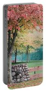 Park In Autumn/fall Colors Portable Battery Charger