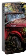 Parked On A Country Road Oil Painting Portable Battery Charger