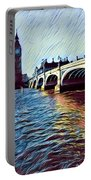 Parliament Across The Thames Portable Battery Charger